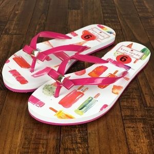 NEW Kate Spade Flip Flops Sandals Nadine Popsicle